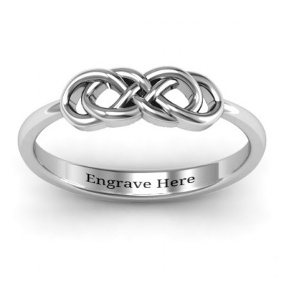 Sterling Silver Infinity Knot Ring - The Name Jewellery™