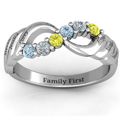 Sterling Silver Infinity and Wave Ring - The Name Jewellery™