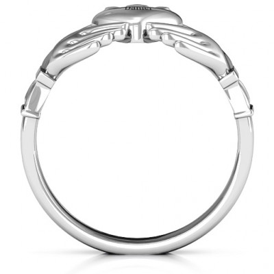 Sterling Silver Men's Classic Celtic Claddagh Ring - The Name Jewellery™