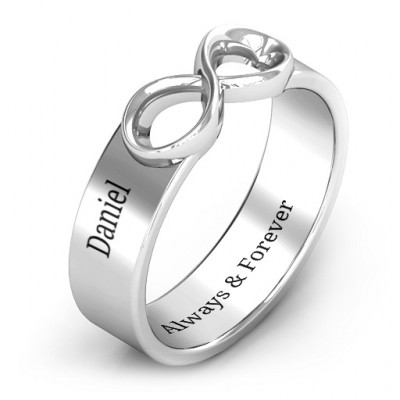 Sterling Silver Men's Expression of Infinity Band - The Name Jewellery™