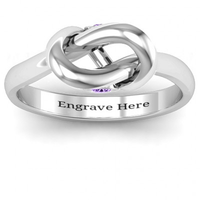 Sterling Silver Modern Infinity Heart Ring - The Name Jewellery™