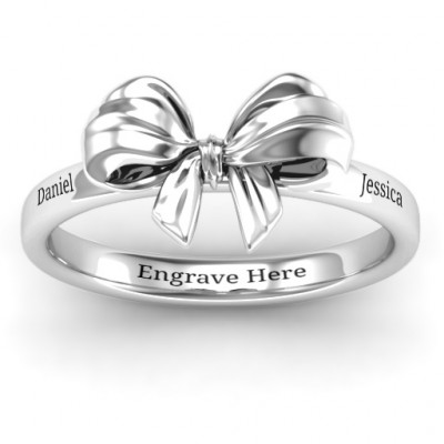 Sterling Silver Papillon Bow Ring - The Name Jewellery™