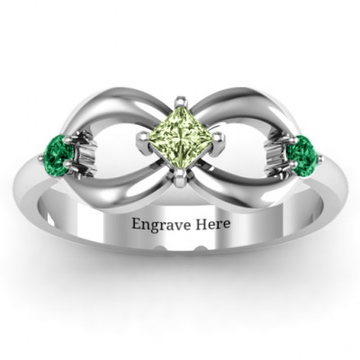 Sterling Silver Princess Infinity Ring - The Name Jewellery™