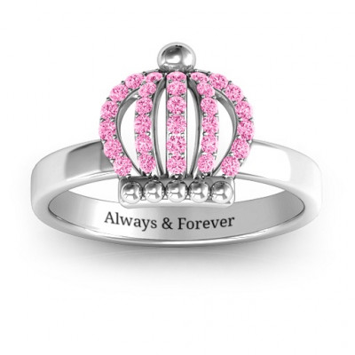 Sterling Silver Queen Of The Castle Crown Ring - The Name Jewellery™