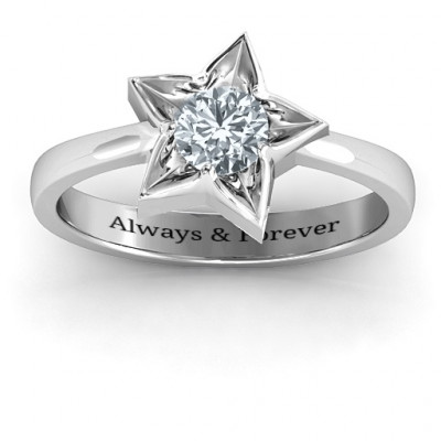 Sterling Silver Superstar Ring - The Name Jewellery™