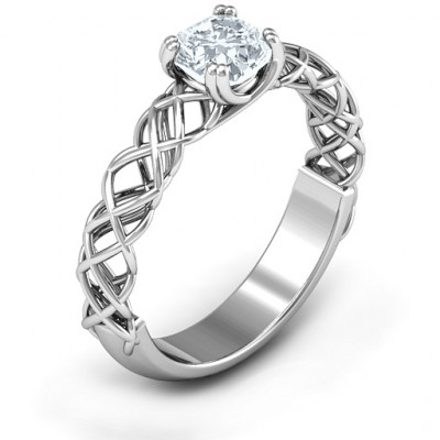 Sterling Silver Tangled in Love Ring - The Name Jewellery™