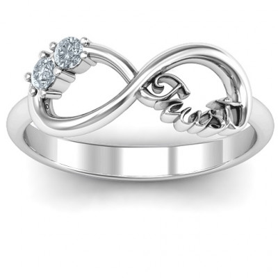 Sterling Silver Trust Infinity Ring - The Name Jewellery™
