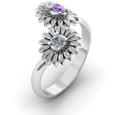Sun Flowers Ring - The Name Jewellery™