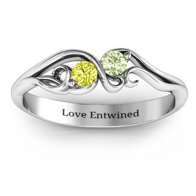 Swirl of Style Birthstone Ring - The Name Jewellery™