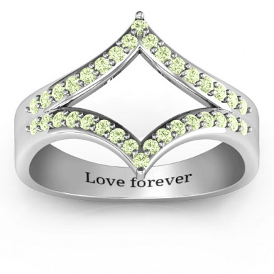 Symmetrical Sparkle Ring - The Name Jewellery™