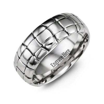 Tortoise Shell Cobalt Ring - The Name Jewellery™