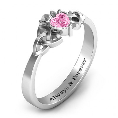 Trinity Knot Heart Crown Ring - The Name Jewellery™