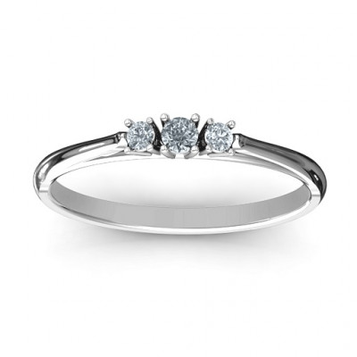 Trinity Ring on Classic Band - The Name Jewellery™