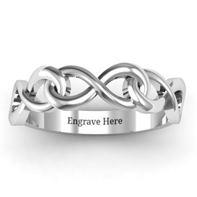 Triple Entwined Infinity Ring - The Name Jewellery™