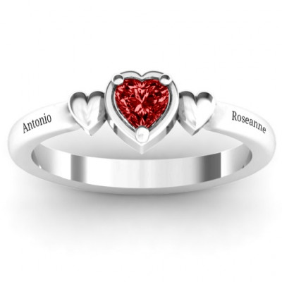 Triple Heart Ring - The Name Jewellery™