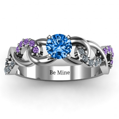 Triple Infinity with Accents Ring - The Name Jewellery™