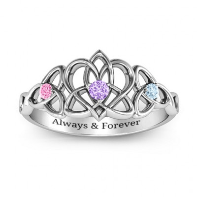 Triple Trinity Celtic Heart Ring - The Name Jewellery™