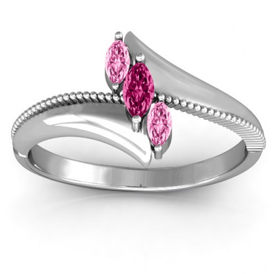 Trois Marquise and Studded Ring - The Name Jewellery™