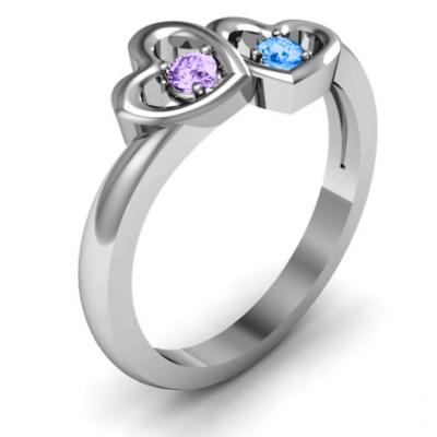 Twin Hearts Ring - The Name Jewellery™