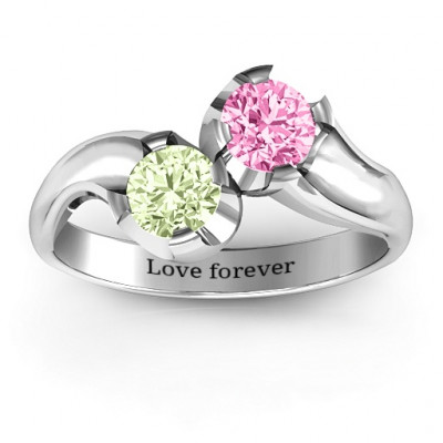 Two Stone Sparkle Ring - The Name Jewellery™