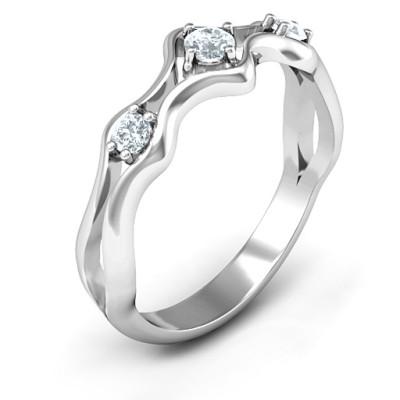 Wavy Trio Ring - The Name Jewellery™