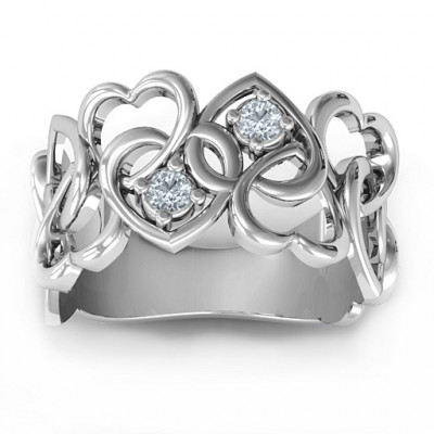 Your Heart and Mine Ring - The Name Jewellery™