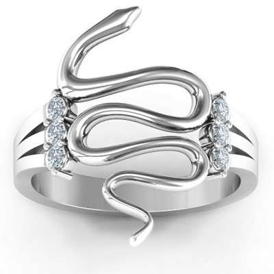 Zig Zag Snake Ring - The Name Jewellery™