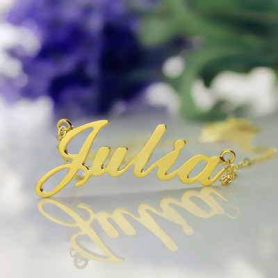 Solid Gold 18ct Julia Style Name Necklace - The Name Jewellery™