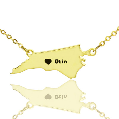 Search tag white name personalised nc state usa map necklace with heart name gold plated the name jewellery freerunsca Gallery