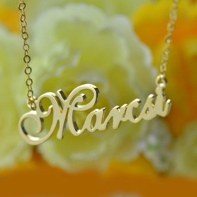 Personalised Nameplate Necklace 18ct Gold Plated - The Name Jewellery™