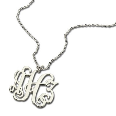 Personalised Taylor Swift Monogram Necklace Sterling Silver - The Name Jewellery™