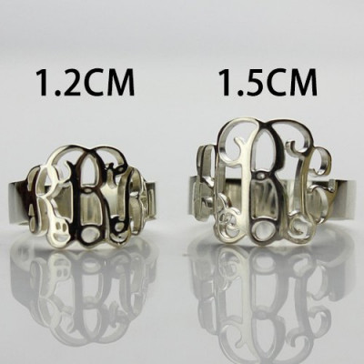 Personalised Sterling Silver Monogram Ring - The Name Jewellery™