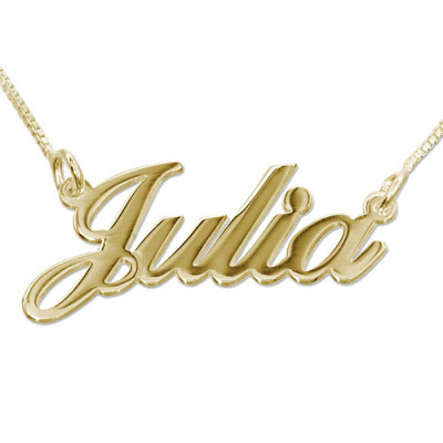18ct Gold Double Thickness Classic Name Necklace - The Name Jewellery™
