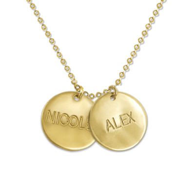 18ct Gold Mum Jewellery - Multi Disc Necklace - The Name Jewellery™