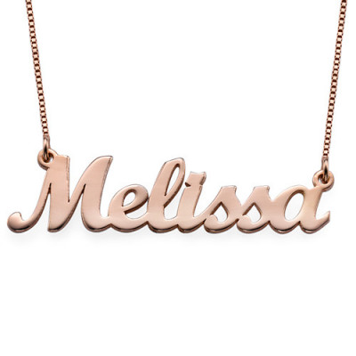 18ct Rose Gold Plated Script Name Necklace - The Name Jewellery™