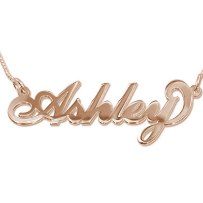 18ct Rose Gold Plated Silver Name Necklace - The Name Jewellery™