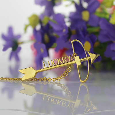 18ct Gold Plated 925 Silver Arrow Cross Name Necklaces Pendant Necklace - The Name Jewellery™