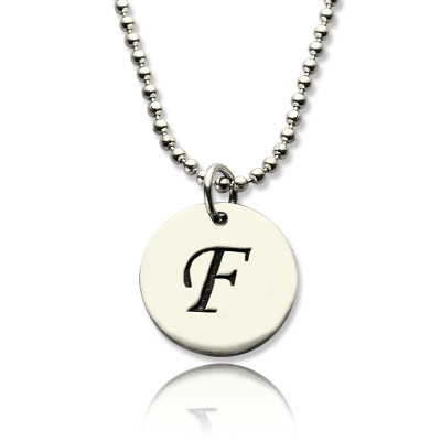 Personalised Initial Discs Necklace Silver - The Name Jewellery™