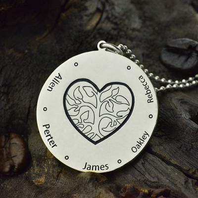 Family Tree Jewellery Necklace Engraved Names - The Name Jewellery™