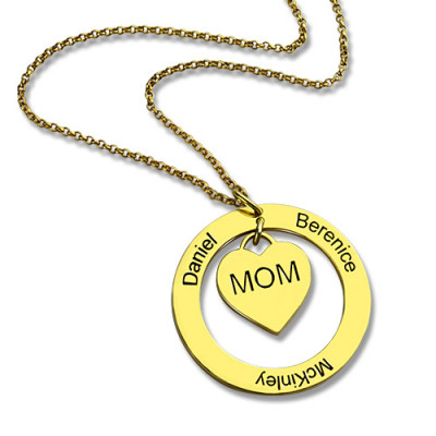 Family Names Necklace For Mom 18ct Gold Plating - The Name Jewellery™