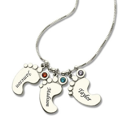 Baby Feet Charm Necklace for Mom - The Name Jewellery™