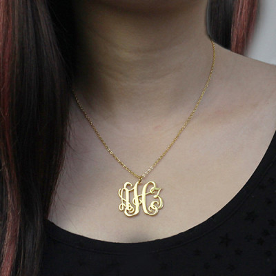 Taylor Swift Monogram Necklace 18ct Gold Plated - The Name Jewellery™