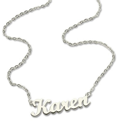 Personalised Script Name Necklace Sterling Silver - The Name Jewellery™