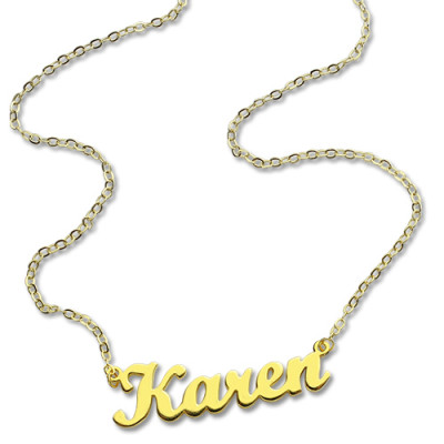 Gold Plated 925 Silver Karen Style Name Necklace - The Name Jewellery™
