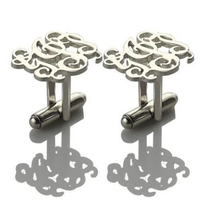 Personalised Cufflinks with Monogram Sterling Silver - The Name Jewellery™