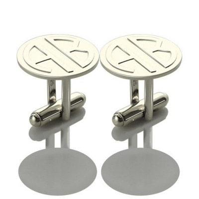 Cufflinks for Men Block Monogrammed Sterling Silver - The Name Jewellery™