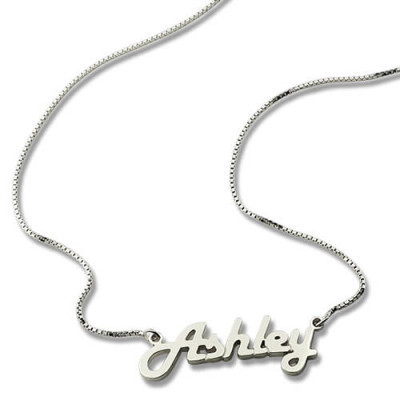 Sterling Silver Retro Name Necklace - The Name Jewellery™