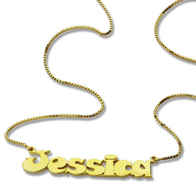 Gold Over Children's Name Necklace - The Name Jewellery™