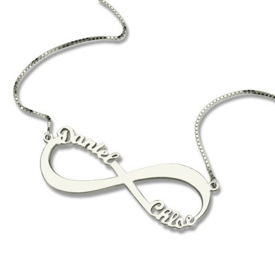 Personalised Infinity Symbol Necklace Double Name - The Name Jewellery™