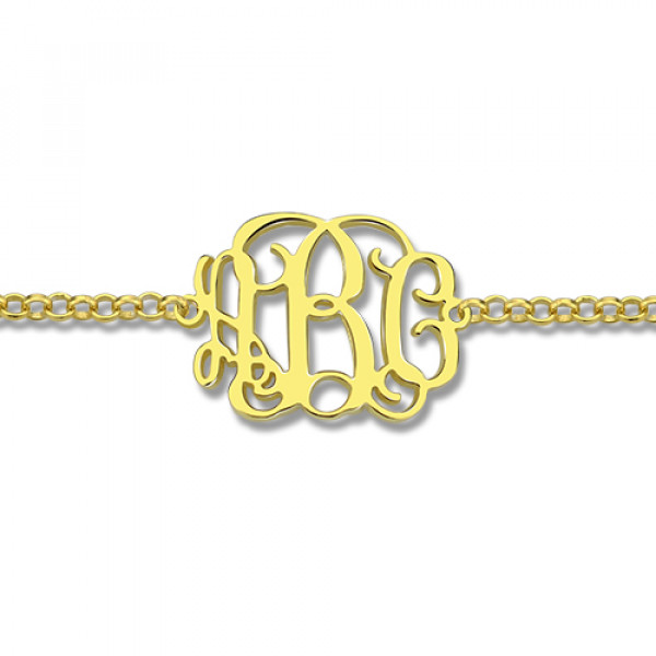 18ct Gold Plated Monogram Bracelet - The Name Jewellery™